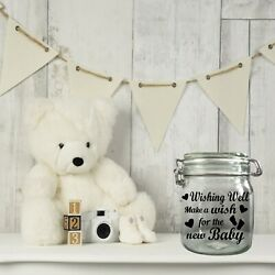 Wishing Well, Make a wish for the new Baby, Baby Shower, New Baby wish jar Decal