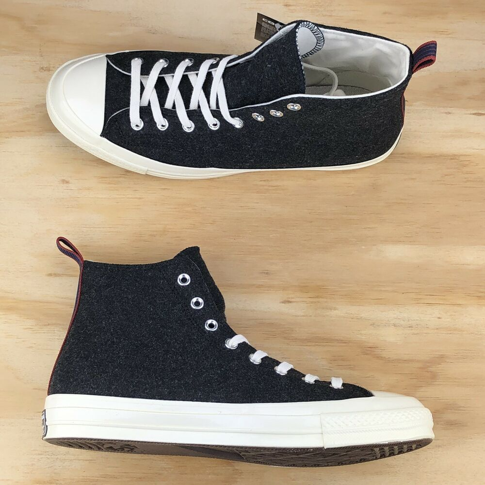 b38292c00f0ccd Details about Converse Chuck Taylor All Star 70 Hi Top Wool Black White  Shoes 157481C Size