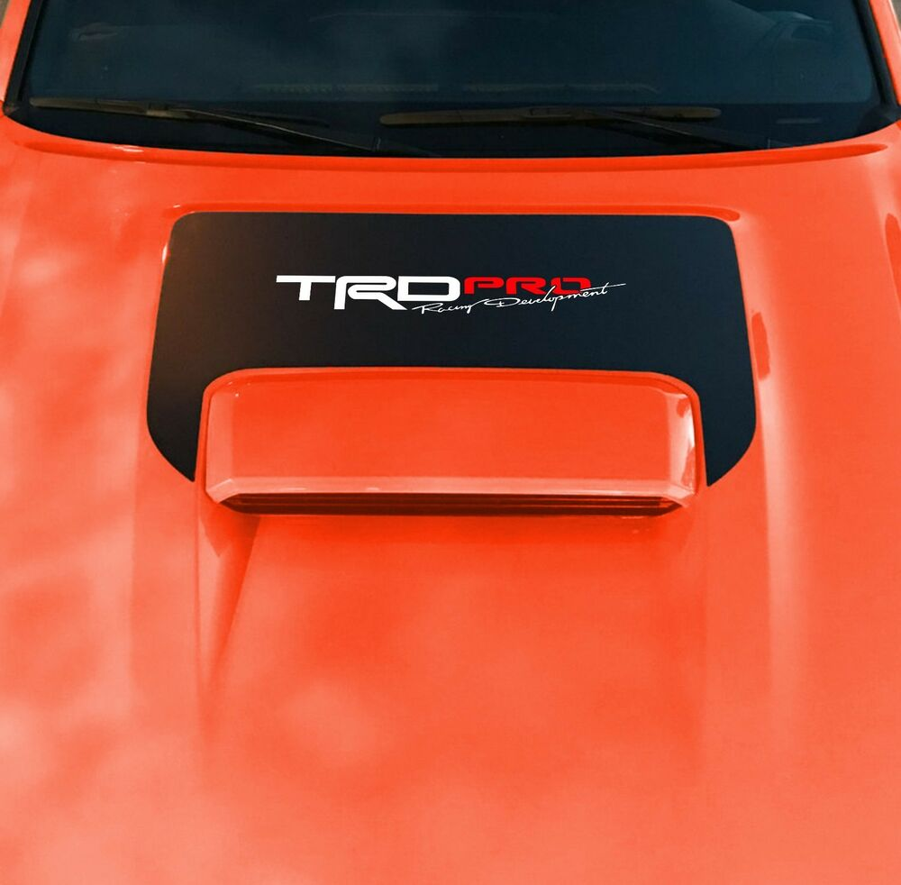 Details about 2016 2017 2018 toyota tacoma trd sport pro hood scoop lettering decal graphics
