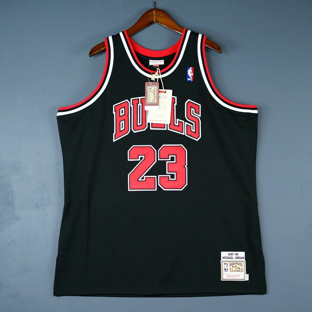 7c0b9266ddf5d2 Details about 100% Authentic Michael Jordan Mitchell   Ness 97 98 Bulls  Jersey Size 36 S Mens