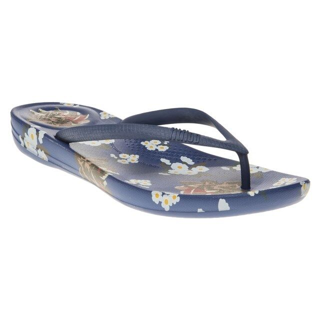 184a2bea6 Details about New WOMENS Fitflop BLUE IQUSHION RUBBER SANDALS FLIP FLOPS
