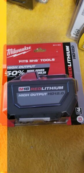 Milwaukee 48-11-1812 M18 RED LITHIUM High Output HD12.0 Battery Pack New