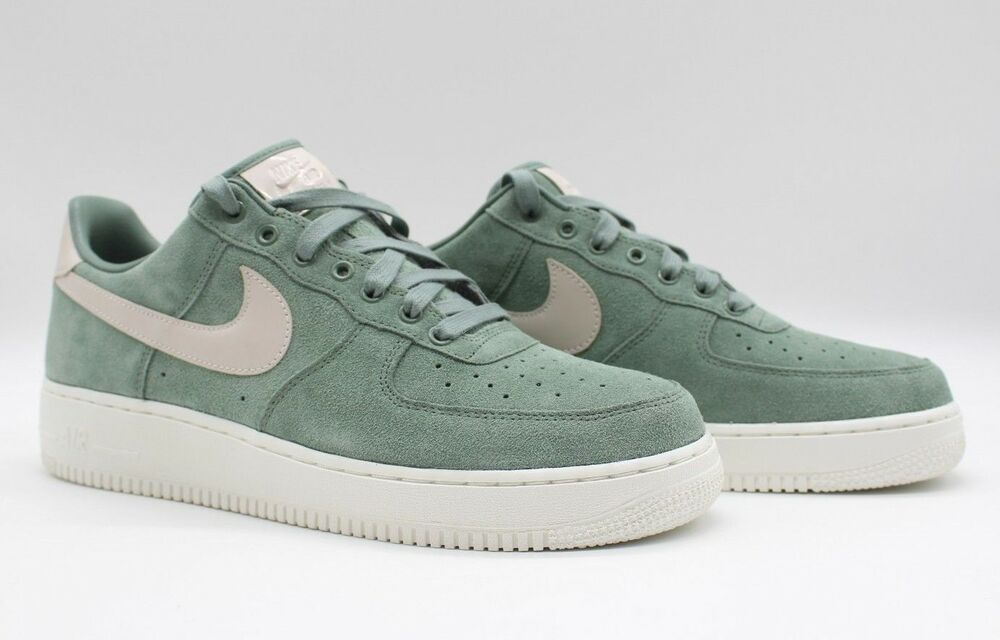 pretty nice 9eb59 40ef0 Details about Nike Mens Air Force One Low Premium Suede ID  GreenSail-White AQ3661-991 NEW