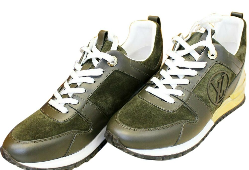 9392a62963d3 Details about LOUIS VUITTON Run Away Suede Leather Sneakers Size 37