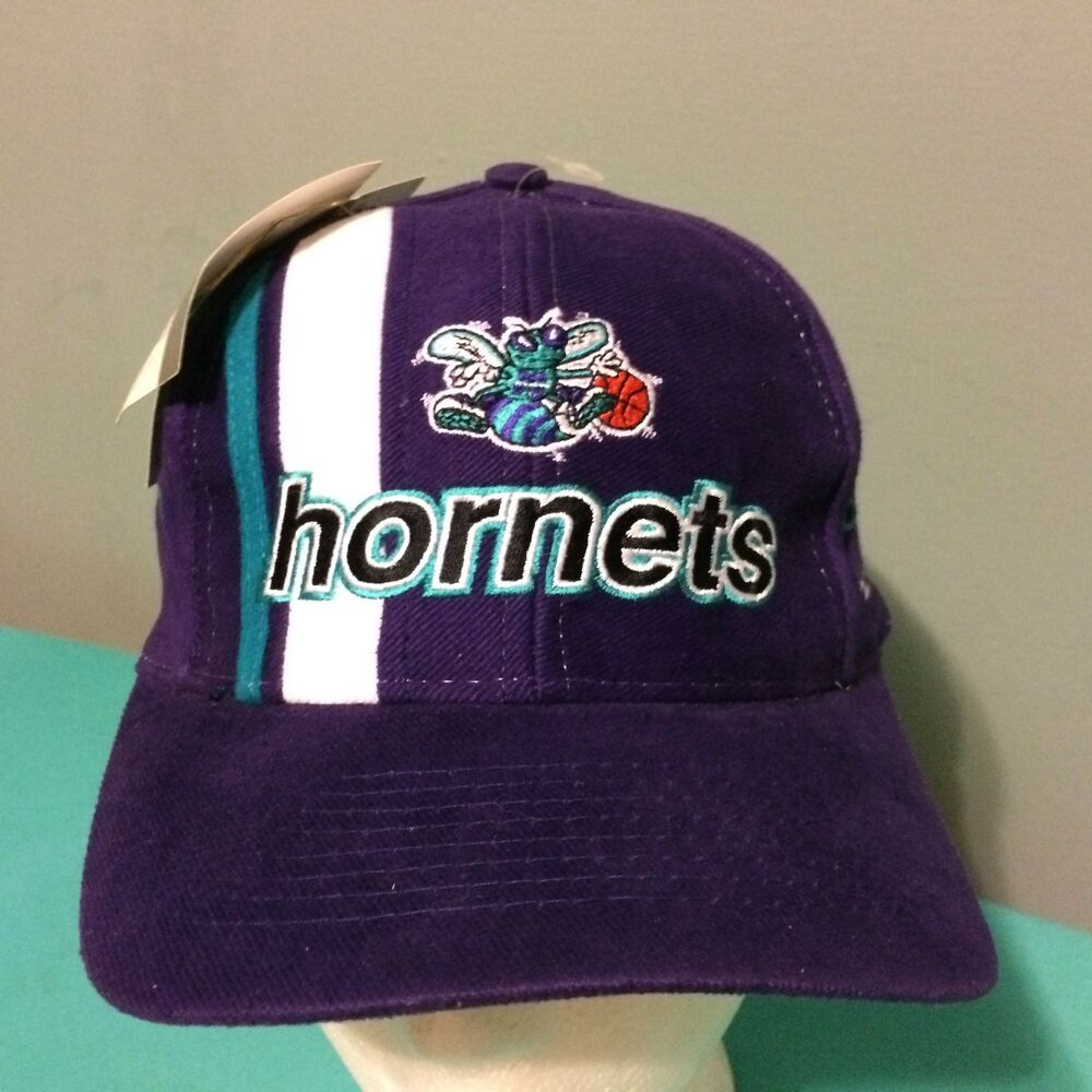 Details about Vintage Charlotte Hornets Logo Athletic Hat Cap NBA Licensed  NEW NWT Stripe 764a8fdb5