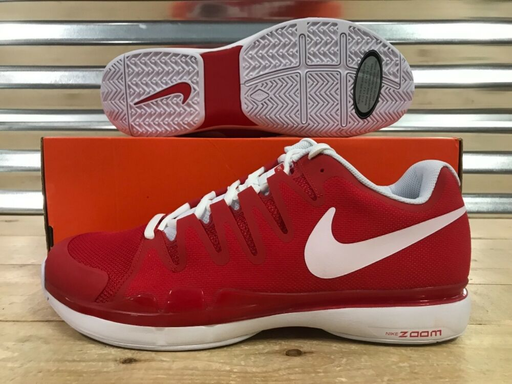 0d8f72242ae20 Details about Nike Zoom Vapor 9.5 Tour Tennis Shoes Federer University Red  White (631458-601)