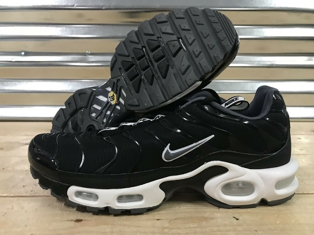2c5ce71cdb7f Details about Nike Air Max Plus TN Tuned Pull Tab Running Shoes Black White  SZ ( AQ4128-001 )