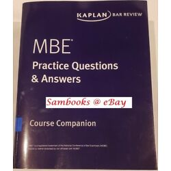 * BRAND NEW * 2018-2019 Kaplan Bar Review  MBE Questions & Answers