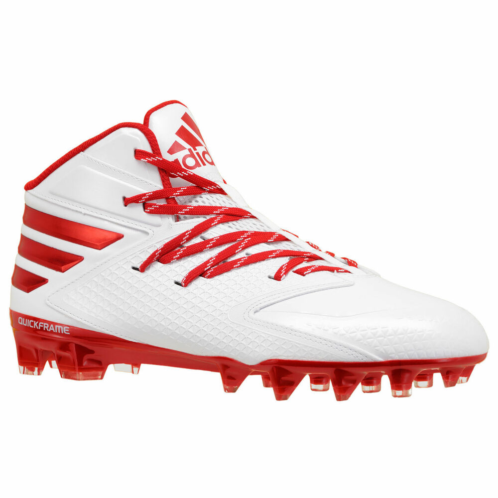 check out 505b3 17ed5 Details about New Adidas Freak X Carbon Mid Mens Football Cleats Redwhite  sz16 Lacrosee rugby