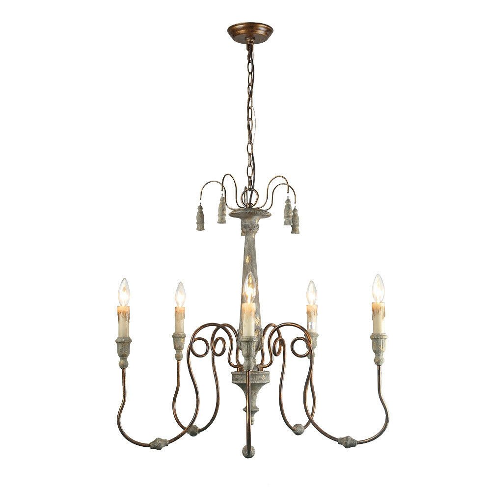 Details about lnc 5 light chandeliers french country chandelier lighting pendant lights