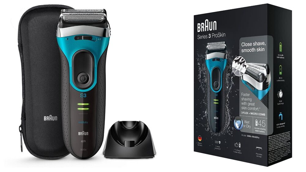 Details about Braun Series 3 ProSkin 3080s Wet Dry Mens Electric  Rechargeable Shaver Razor New 73ff56e03aea