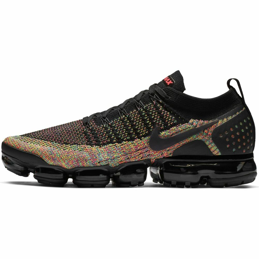 7e25b09343 Details about Nike Air VaporMax Flyknit 2 2.0 Black Multicolor 942842-017  Racer Pink Blue