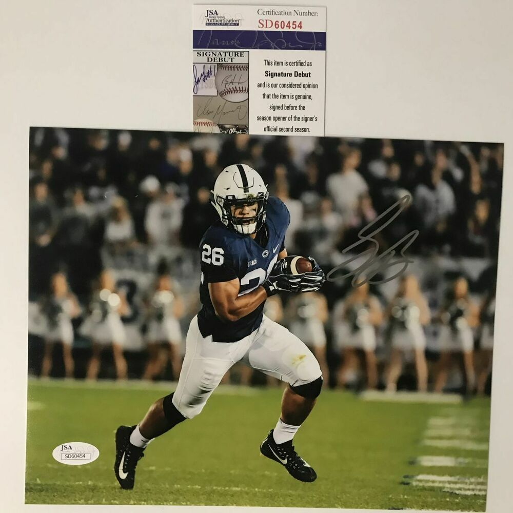 eef807d1e Details about Autographed Signed SAQUON BARKLEY Penn State Nittany Lions  8x10 Photo JSA COA 11