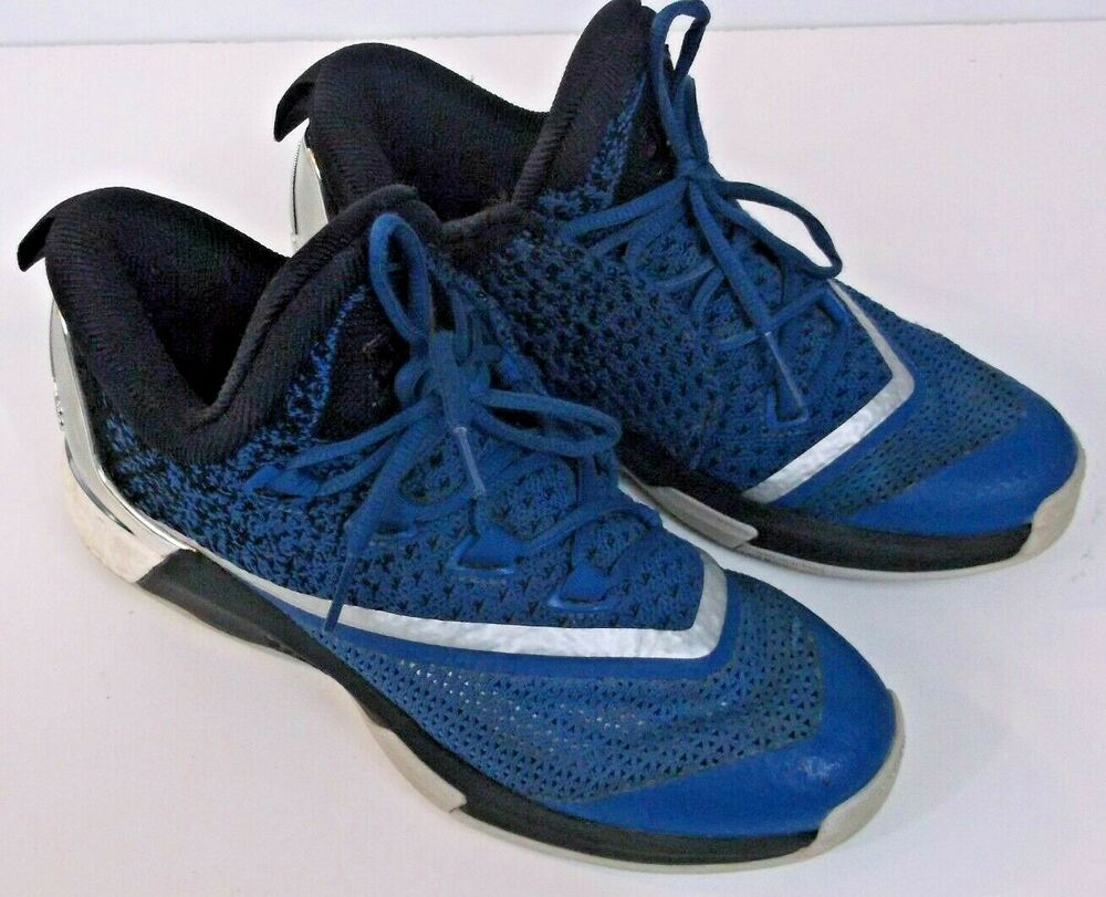 815c28a5b7c189 Details about Adidas Crazylight Boost 2.5 Low Lace Up Blue Silver Basketball  Shoes AQ8469 Sz 7