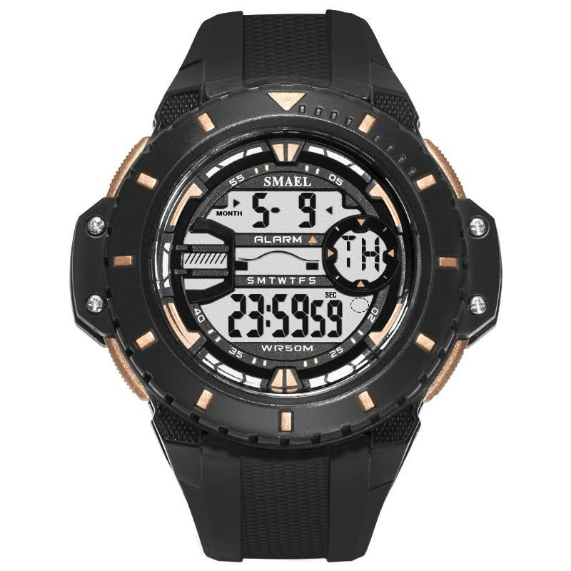 cb1802b93 Details about SMAEL Men Digital Sport Watch LED Waterproof Alarm Stopwatch  Military Wristwatch