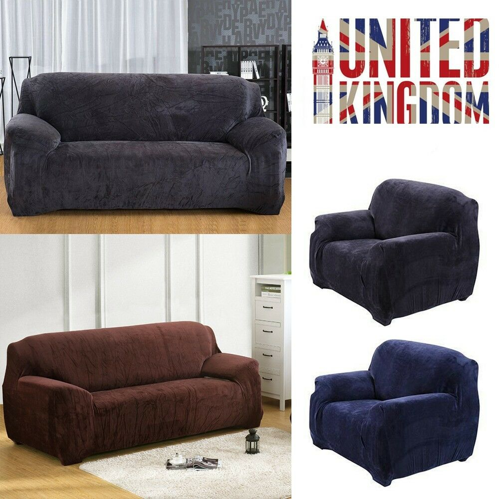 1/2/3 Seat Sofa Slipcover Soft Stretch Couch Cover Protector Easy ...