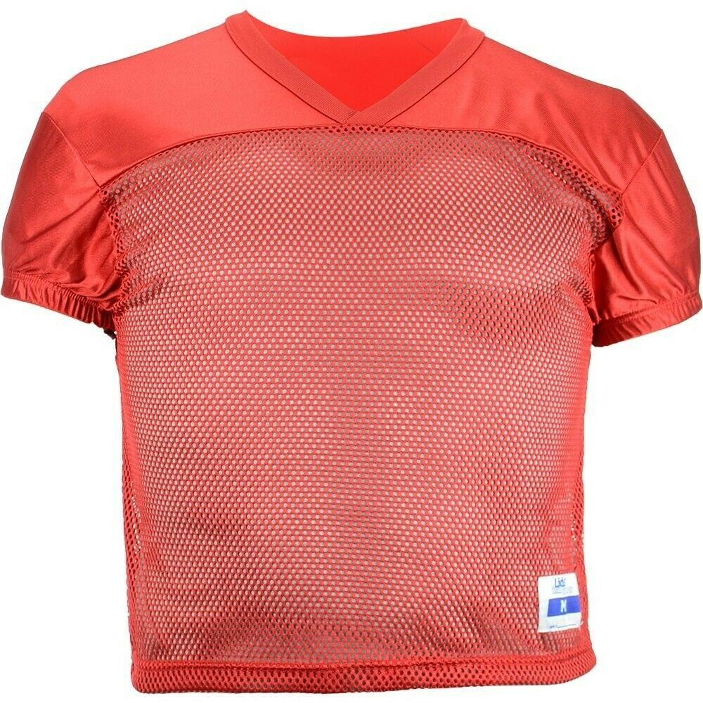 03d4070e7 Details about Lids Adult Red Mesh Football Practice Jerseys Size XL (Lot of  20)