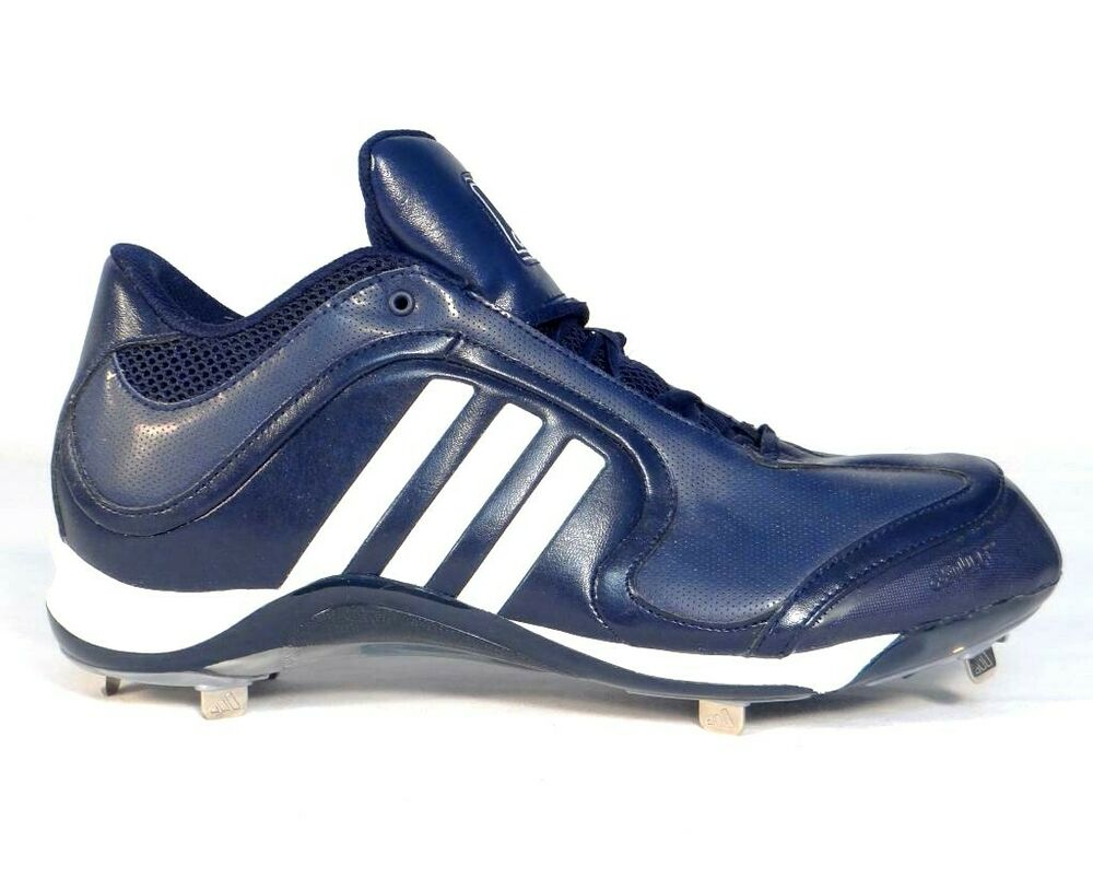 62558d168f3a Details about Adidas Excelsior 6 Mid Dark Blue & White Metal Baseball  Softball Cleats Mens NEW