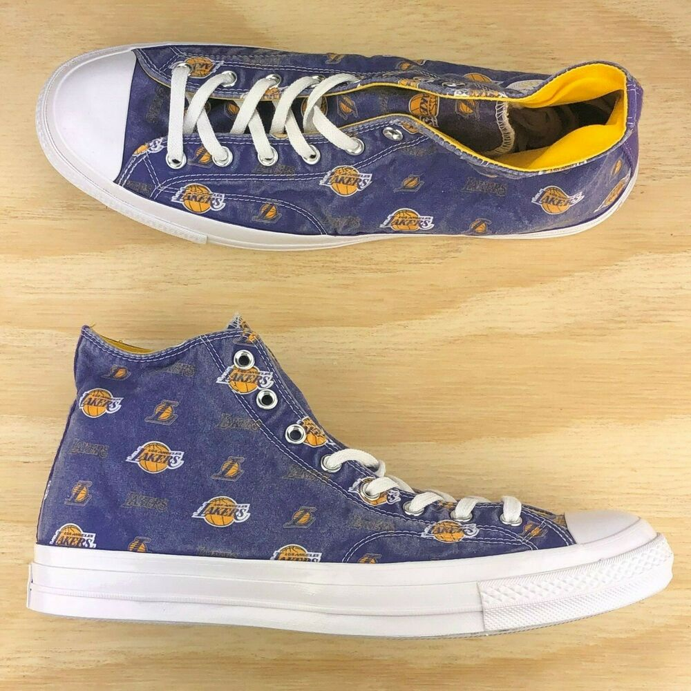 fb3b33675f19 Details about Converse Chuck Taylor All Star 70 Hi Top Los Angeles Lakers   161160C  Size 13