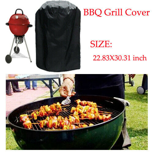 Details About Bbq Grill Cover Black 22 8 Small Barbecue Round Kettle Yard Outdoor