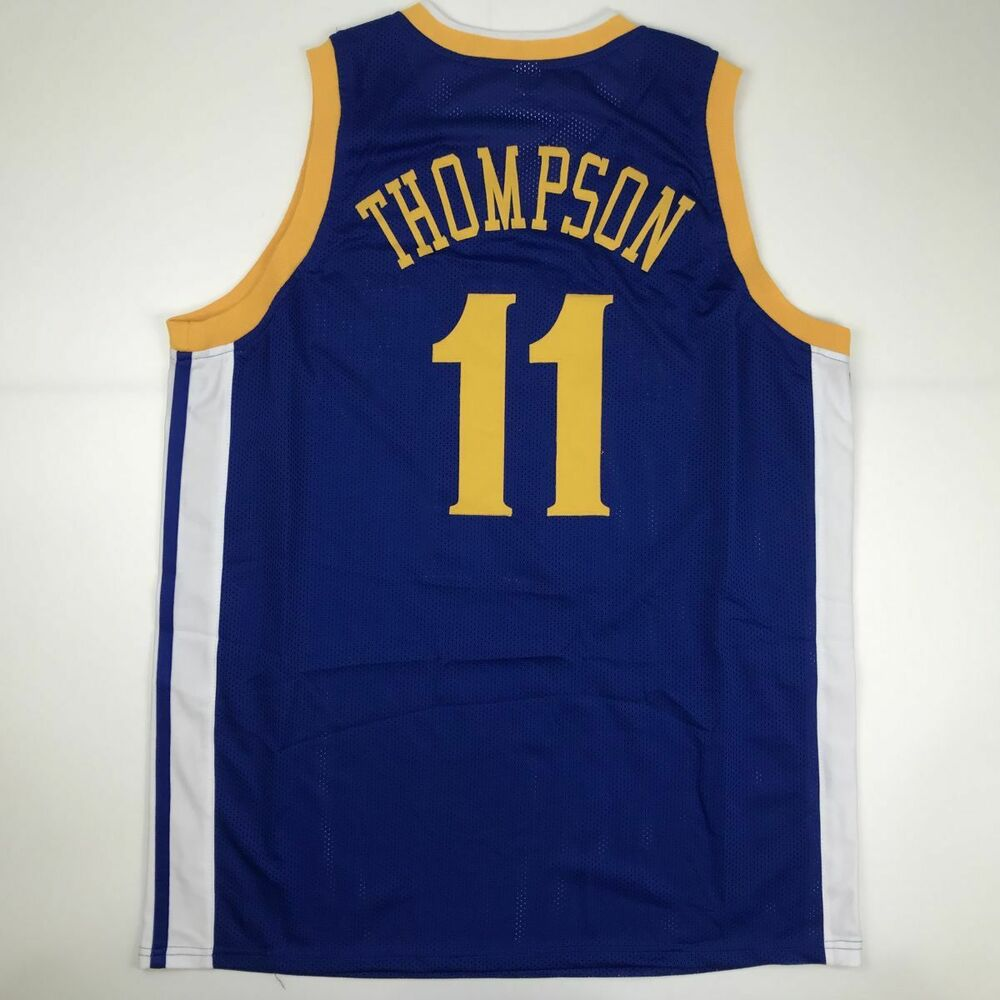 00ed4c2b9ba Details about New KLAY THOMPSON Golden State Blue Custom Stitched Basketball  Jersey Men's XL