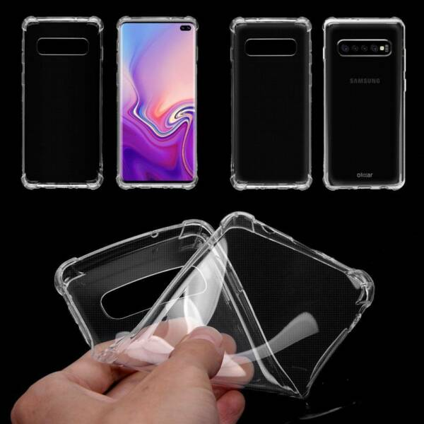 Transparent Silicone Protective Case Cover for Samsung Galaxy S10 Plus Lite /MY
