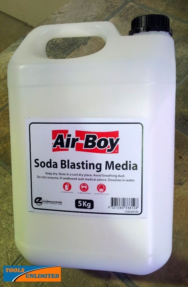 Soda Blasting Media >> Air Boy 5 Kg Soda Blasting Medium To Suit Soda Blast Guns 124320100