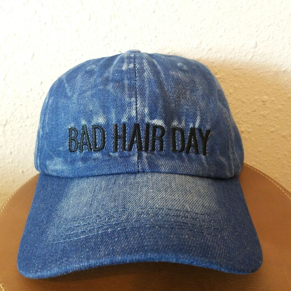 Details about Rue 21 Womens Bad Hair Day Blue Jean Casual 100% Cotton Cap  Hat One Size dad492fd72f2