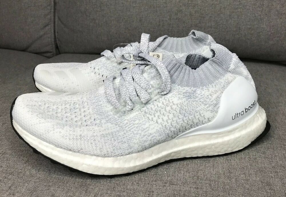 890e7daee94 Details about Adidas Ultra Boost Uncaged Triple White Running Shoes DB1430  Mens 6 Womens 7.5