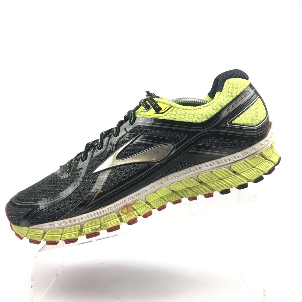 8f59dda16ec Details about Mens Brooks Running Shoes GTS 16 yellow Black Size 12.5 D