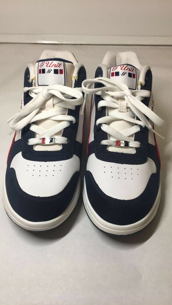 d300821a181 Details about Reebok G Unit White   Navy Blue Shoes Size 5 1 2 Eminem 50  Cent