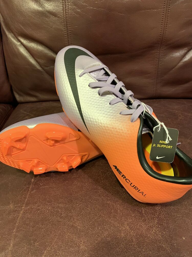 d95ffc8e154 Details about Nike Mercurial Youth Soccer Shoes   Cleats Orange And Purple  Brand New Size 5Y