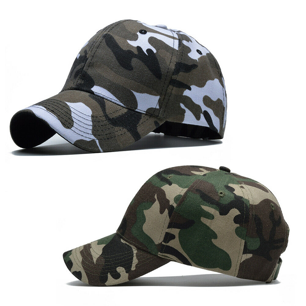 a12f1946 Details about Men Women Baseball Cap Military Army Camo Hat Trucker Camouflage  Outdoor Sport