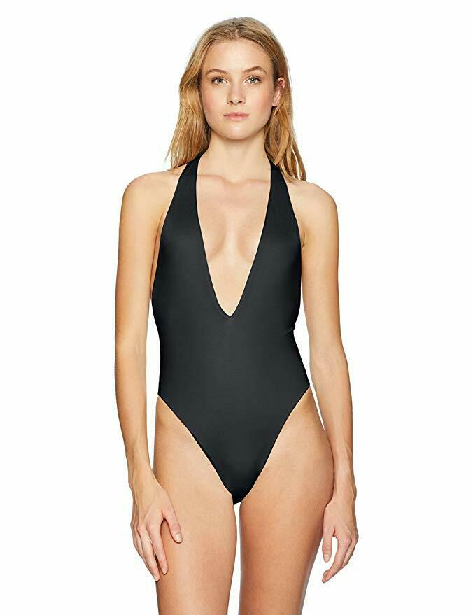5ec1f058127 Details about Bikini Lab Junior's High Leg One Piece Swimsuit, Black SIZE  Small