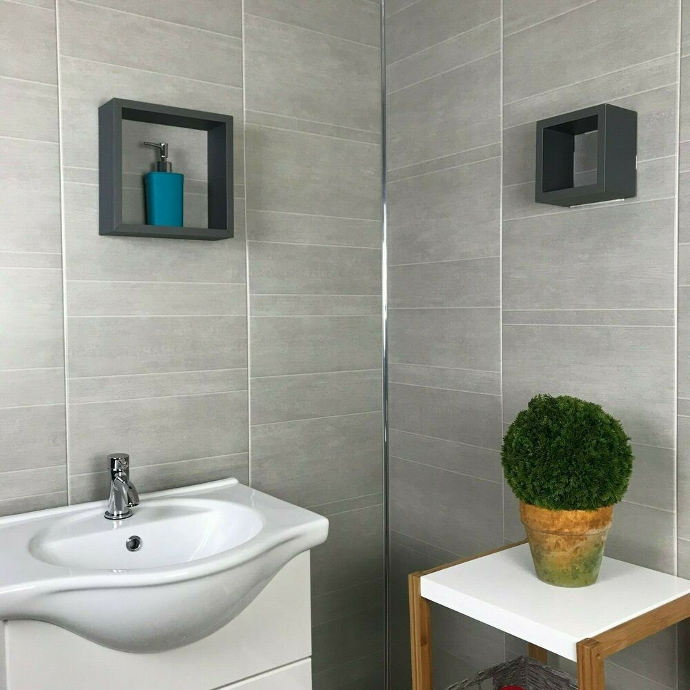 Greystone Multi Tile Effect Wall Panels PVC Bathroom Cladding Shower Wall 8mm