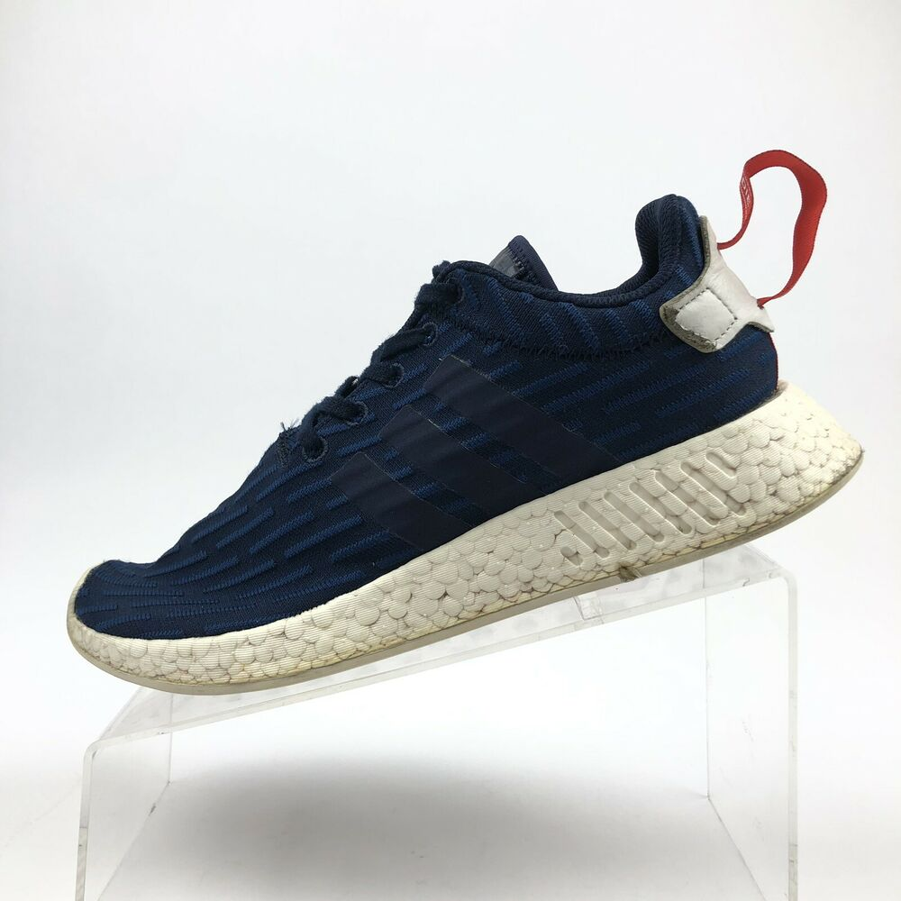 873daad57 Details about Adidas Boost NMD R2 PK Size 9 Collegiate Navy Used Style  BB2952