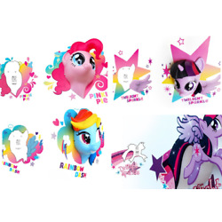 3D Deco Light FX Replacement Crack Wall STICKER ONLY various characters