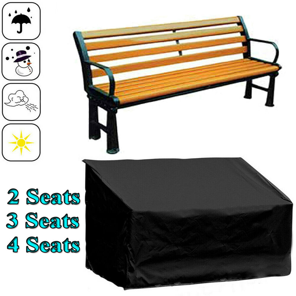 Waterproof Garden Patio Furniture Cover 2 3 4 Seater Bench Seat