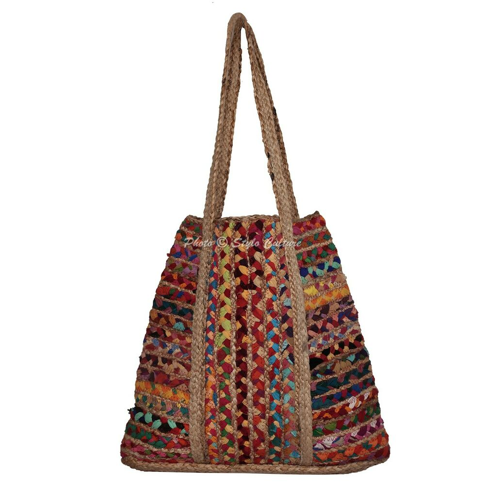 Indian Fancy Jute Eco Friendly Hand Craft Shoulder Bag Shopping Party Gift Ebay