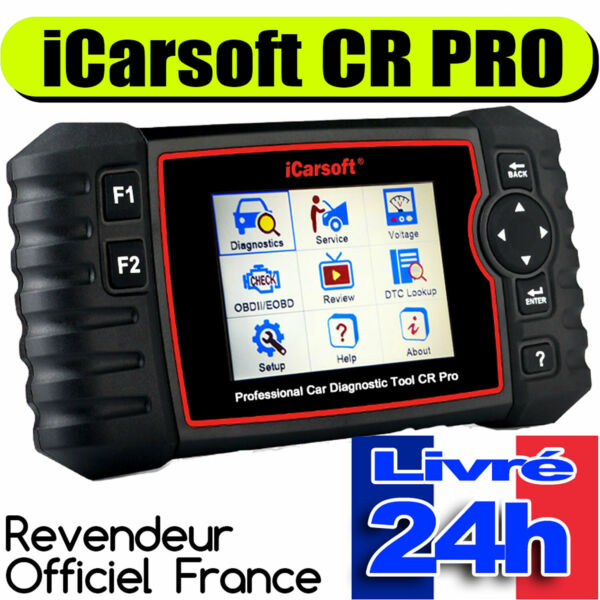 Valise diagnostic iCarsoft CR PRO multimarque 40 marques Fiat Holden Suzuki