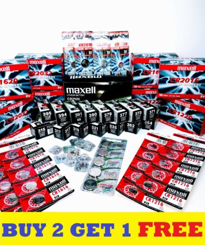 MAXELL Watch Batteries - Japan Made - BUY 2 GET 1 FREE 364 377 371 379 2032 2016