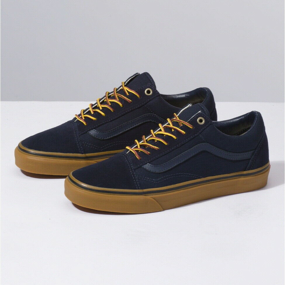 a5f42b9727 Details about Vans Gum Sole Old Skool Skate Sneakers Shoes Navy VN0A38G1UNF Size  US 4-13