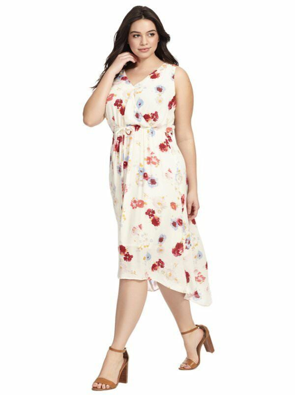 48e9be7d38 Details about NEW LUCKY BRAND IVORY FLORAL PRINT MAXI DRESS PLUS SIZE 3X