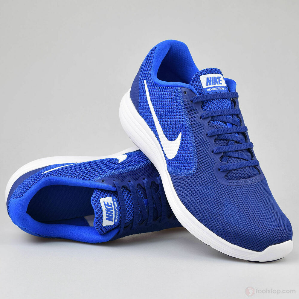 421bc898f5a Details about Nike Revolution 3 Men s Running Shoes 819300 407 Deep Royal  Blue NO BOX COVER