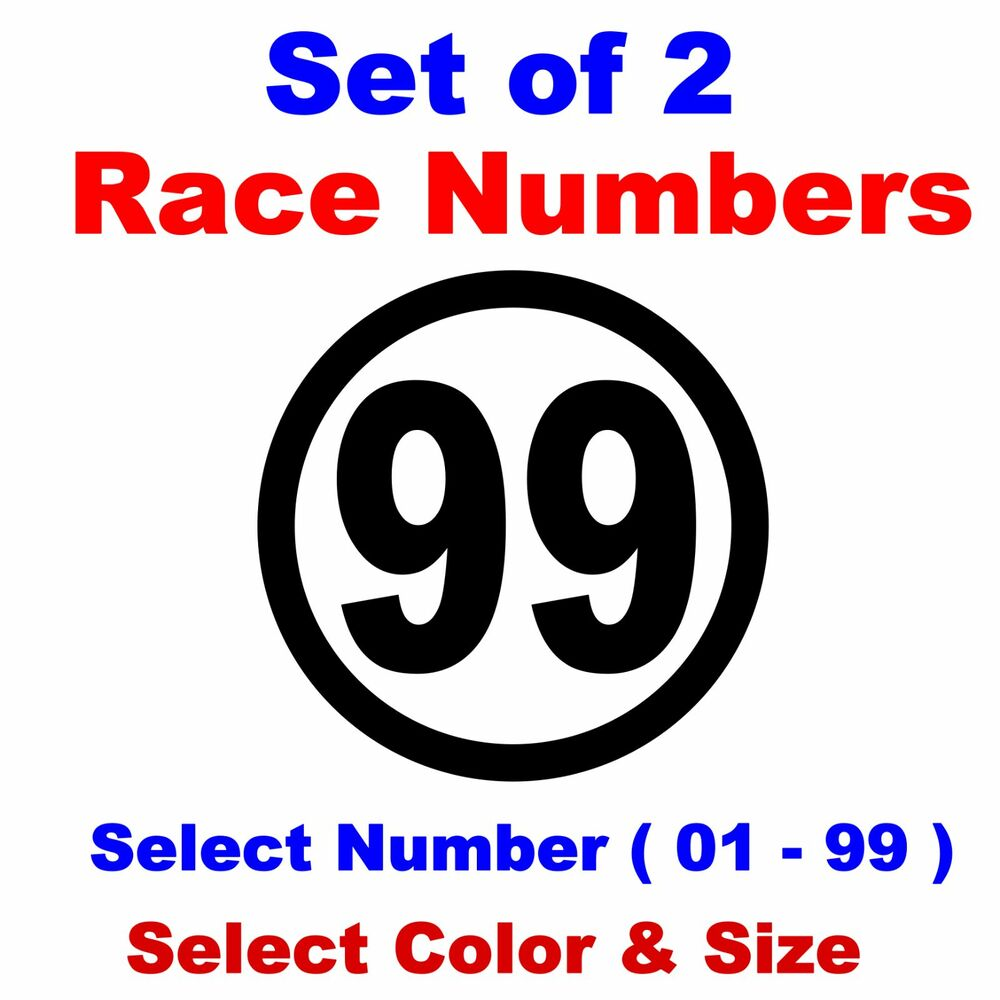 Details about racing numbers round car motorcycle truck midget dirt select color size