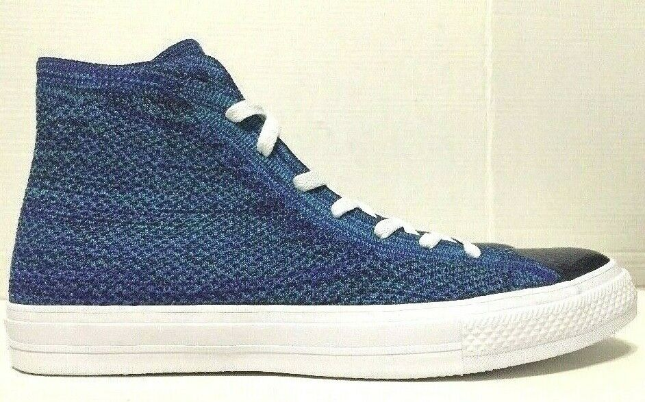 fadc624e5eb8 Details about Converse Chuck Taylor All Star X Nike Flyknit High Top Blue  157507C Mens Size 11