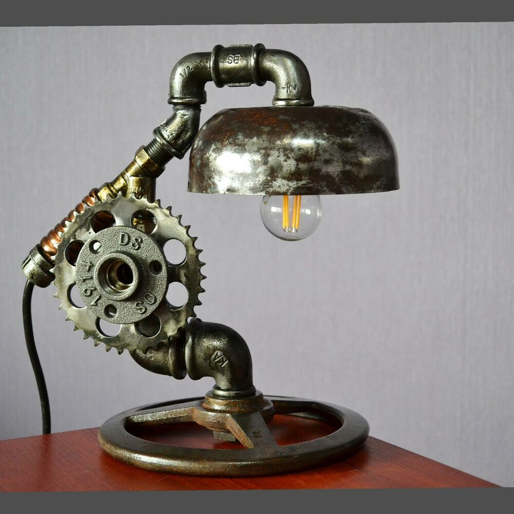 Details About Unique Exclusive Steampunk Table Lamp Real Metal Ussr Gift