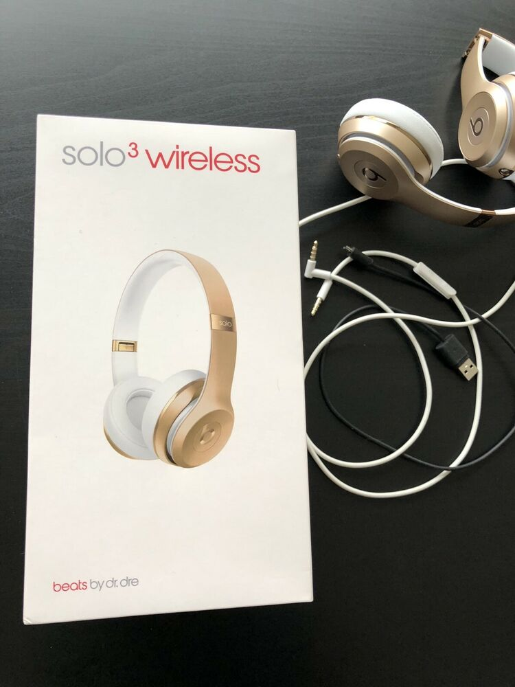 9f1149b32af Details about Beats by Dr. Dre Solo3 Wireless Over the Ear Headphones - Gold