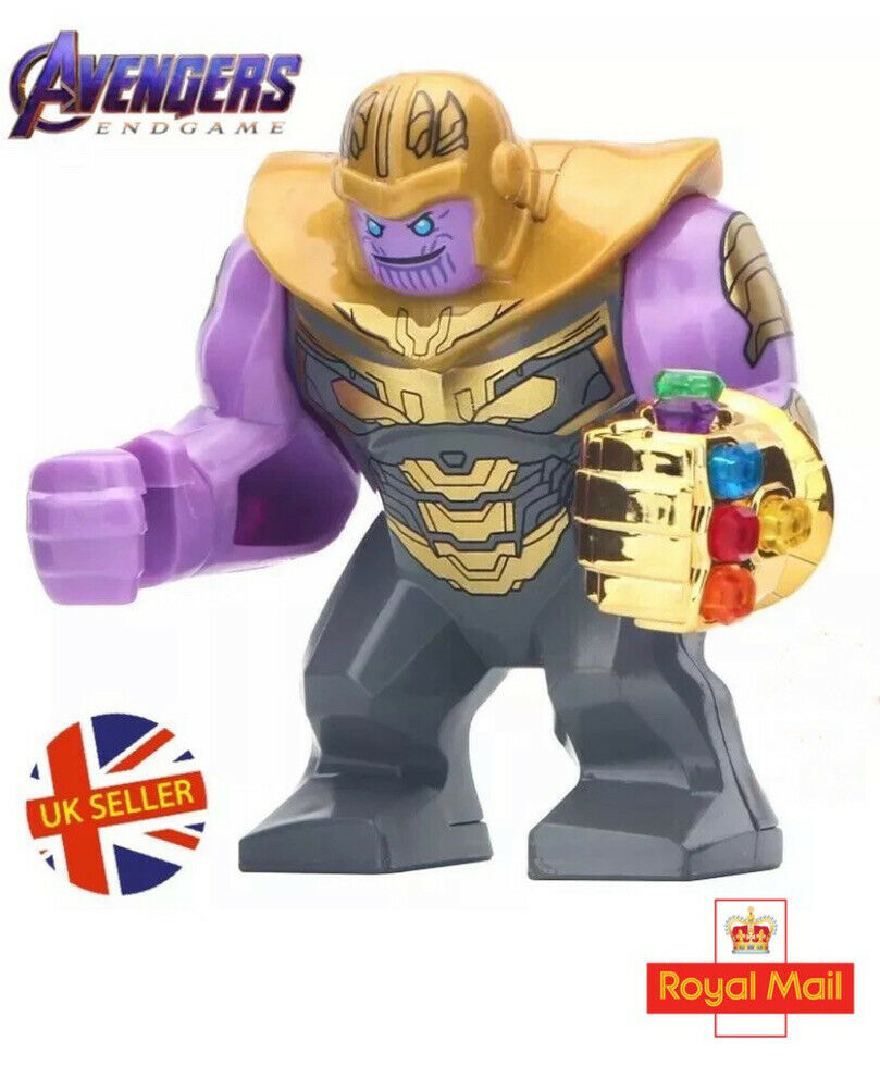 560dcbf0 Details about Marvel Avengers Thanos Gold Figure Lego Fit End Game Infinity  Gauntlet UK Seller