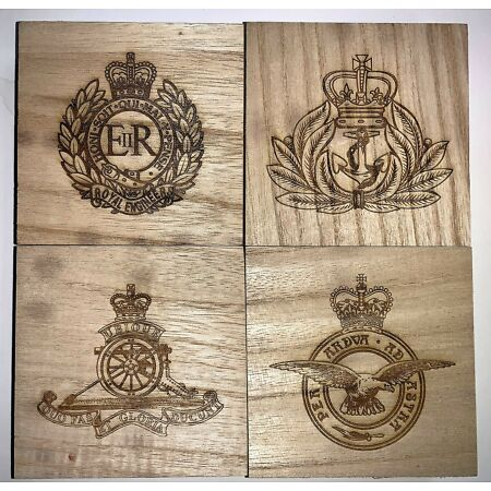 img-Slim Wooden Medal Storage Box for Miniature Mess Dress Medals (up to 4 medals)